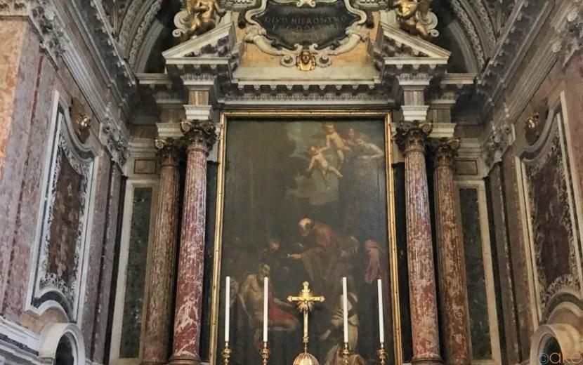 礼拝堂が見応えアリ!ローマ、サン・ジローラモ・デッラ・カリタ教会|イタリア観光ガイド
