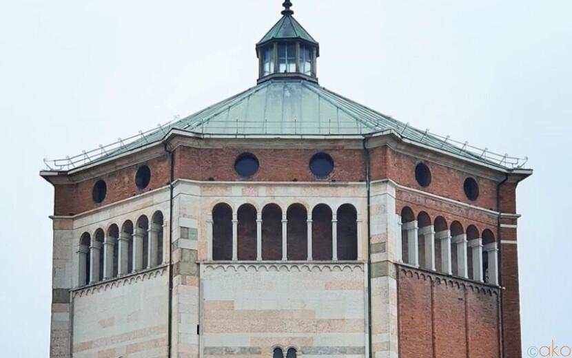 北イタリア、クレモナの街にそびえる巨大な八角形!クレモナ洗礼堂|イタリア観光ガイド