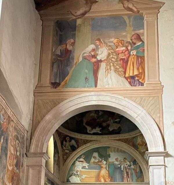 美の壁画。ベルガモ、サン・ミケーレ・アル・ポッツォ・ビアンコ教会|イタリア観光ガイド