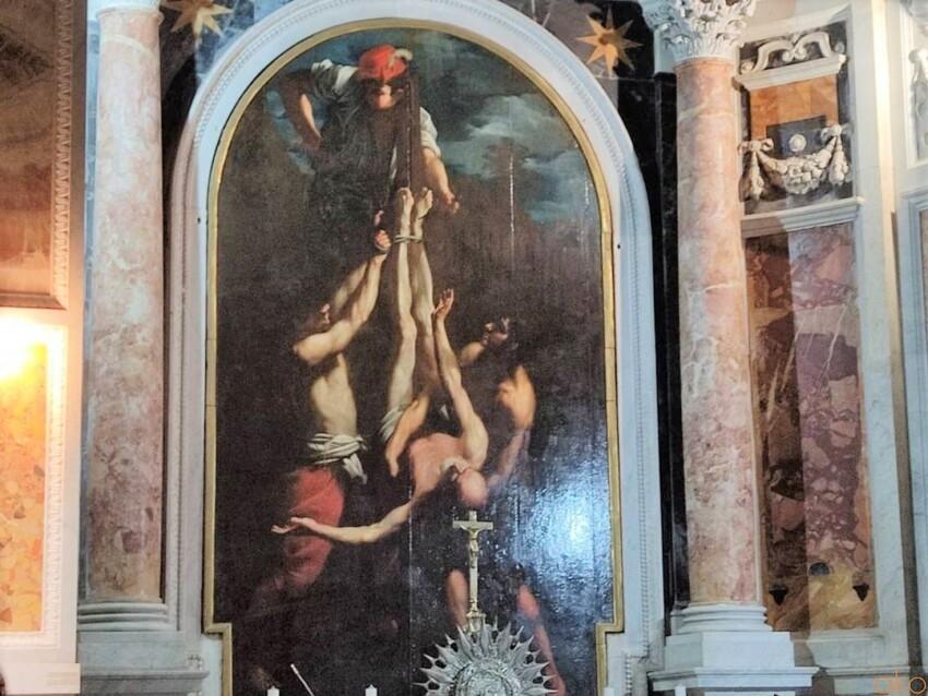 ローマの首塚、サン・パオロ・アル・マルティリオ教会 イタリア観光ガイド